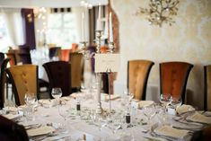 Wedding setup at The Red Door Country House, Fahan, Co. Photo by Donal Doherty Photography. Wedding Receptions, Wedding Ceremony, Wedding Set Up, Wedding Ideas, Civil Wedding, Donegal, Table Settings, Candles, Doors