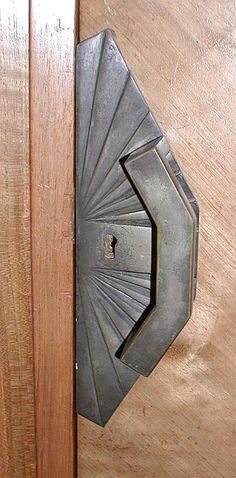 Art Deco cabinet lock. Nice idea for front door, too.