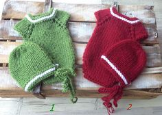 Christmas photo prop  Knitted Baby Props  Knit Christmas