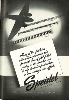 Patriotic Jewelry Ads From 1942: Speidel. http://www.allthingsluxury.biz