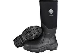 """Muck Arctic Sport 17"""" Waterproof Insulated Hunting Boots Rubber and Nylon Black Men's 12 D. Comfort Range: -40°F t o 40°F. Warm fleece lining. 2mm thermal foam under the footbed. 5mm CR flex-foam. EVA contoured molded midsole."""