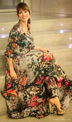 Multi Retro Floral Maxi Dress