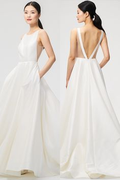 Jenny by Jenny Yoo 2018 • BRIDAL • 'Ashton' Gown // Chic, Modern and Romantic Backless Wedding Dress // Bateau Neckline // Simple and Unique Silhouette