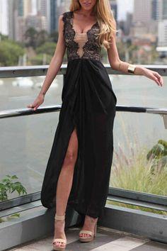 Sleeveless Maxi Charming Women Dress in Black  http://hisandherfashion.com/products/sleeveless-maxi-charming-women-dress-in-black