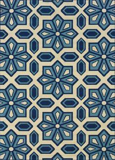 Caspian 969W Ivory/ Blue Rug – Rug & Home