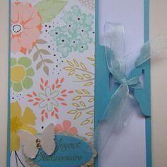 Carte d'anniversaire originale et fleurie aux couleurs pastel