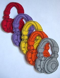 Iron On Patch Headphones Applique by dahliasoleil on Etsy