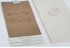 THEE stationery from the 'Nedding'  great Minneapolis graphic designer wedding