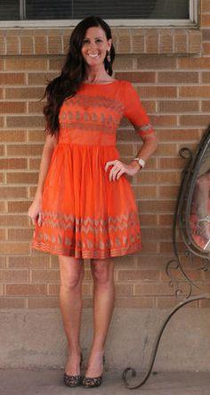 NWT~Anthropologie~Tangerine Flicker Dress #anthropologie #orangedress #tracyreese