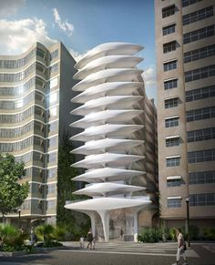 zaha had id's first project in brazil: the multistorey structure will neighbor diller scofidio + renfro's 'museum of image and sound' along the copacabana beach, lending the city 'a new aesthetic vitality'.