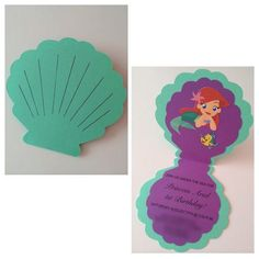 Ideas para decorar una fiesta Mermaid Tail Cake Topper Under the Sea by BirdInACageCreations
