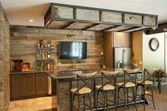 Angolo bar realizzato in stile rustico n.02