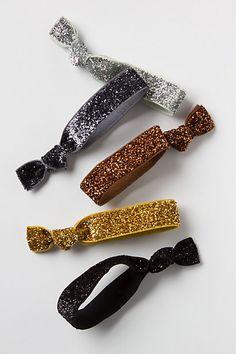 sparkly hair ties / anthropologie