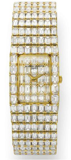 "A DIAMOND AND GOLD ""LORD KALLA"" BRACELET WATCH, BY VACHERON CONSTANTIN. Elizabeth Taylor collection, Christie's."