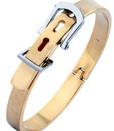 Buy Watch Buckle Style Free Size Stainless Steel Kada Bracelet for Men Bracelet online