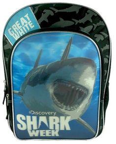 Disney Discovery Shark Week Backpack - Black