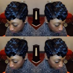LAID ✂️ via @hairbychantellen | #shorthair #pixie #curls #stunner #thecutlife