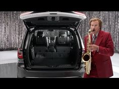 Ron Burgundy blows some Sax in the back of a Dodge Durango...come on down to www.papasdodge.com in New Britain with your Sax and we'll let you try it!!!