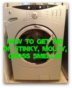 Cleaning your front loading machine in a few simple steps....really helped get rid of that gross stink!