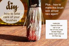 Plein Air Style | Plein Air Liaison DIY: How to Take Care of your Brushes