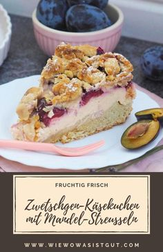 Plum and lime cheesecake with almond crumble topping – Fo … – Dessert Ideas Creamy Cheesecake Recipe, Lime Cheesecake, Cheesecake Recipes, Italian Lemon Pound Cake, Lemon Loaf Cake, Dessert Sauces, Dessert Drinks, Italian Desserts, Lemon Desserts