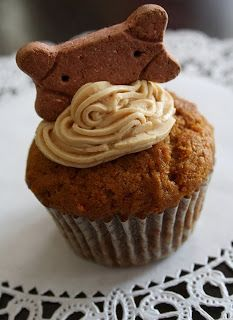 Peanut Butter Pup Cakes. Treat your dog to this rich treat, It's perfectly safe for dogs to eat!