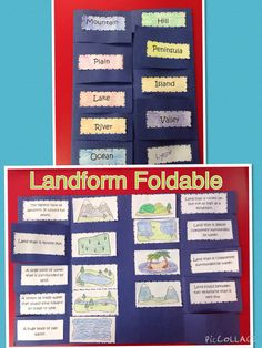 Landform Unit-  this foldable is part of a set of everything you would need to teach about landforms!