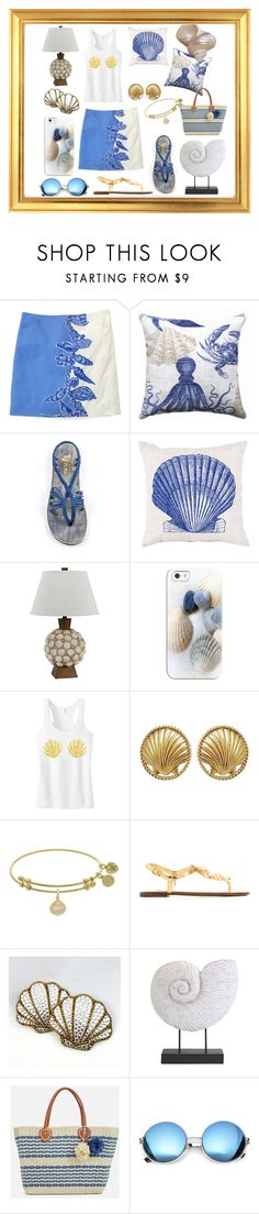 """She sells sea shells on the sea shore😂"" by ipekzsuel on Polyvore featuring Lilly Pulitzer, Surya, Cal Lighting, Casetify, Chanel, Dolce&Gabbana, IMAX Corporation, JustFab and Revo"
