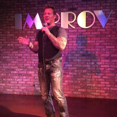 Ladies & Germs...its #ChrisJericho LIVE at the  #OrlandoImprov!! Well not quite....I was actually hosting next weeks challenge for the @wwetoughenough crew! Tune in next Tuesday to see what happened!! #promobattle #ididtellsomejokesthough #theywerehilarious