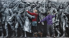 Painted by Andy Farr to commemorate the Centenary. On permanent display in Newcastle Central Library. Based on the Renwick Memorial. Central Library, Newcastle, Lost, Display, Artwork, Painting, Fictional Characters, Floor Space, Work Of Art