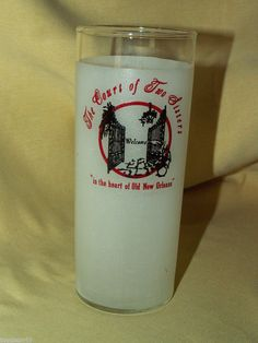 COURT OF TWO SISTERS OLD FRENCH QUARTER NEW ORLEANS TALL TUMBLER GLASS LIBBEY