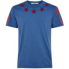 3297166b Givenchy Star Neck Cuban T-Shirt (585 CAD) ❤ liked on Polyvore featuring