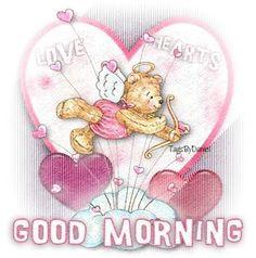 Good Morning Cupid Teddy Good Morning Picture, Morning Pictures, Good Morning Greetings, Cupid, Teddy Bear, Teddy Bears