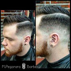 M.PegoraroBarber  Corte de hoje do meu Amigo e Cliente. Agradeço a preferência e a confiança no meu trabalho ;) #Barbershop #Barber #Barbers #BarberLove #BarberStyle #BarberLife #BarberShopConnect #BaberGang #Barbering #Hair #HairCut #Barbeiro #Barbeiros #Barbearia #Pompadour #Fade #Razor #Razorpart by murilo_pegoraro