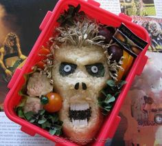 If i opened my lunch box and saw this, I would run screaming!