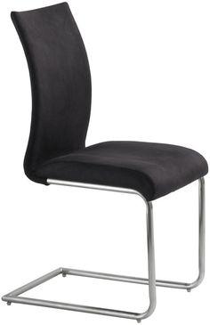 879 inkl lev Nova Spisebordsstol - Lækker spisebordsstol i sort stof 820057f472b5e