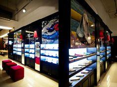 YOSI SAMRA kiosks design by Nina M. Santamaria, Philippines visual merchandising store design