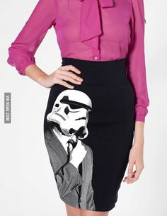 Stormtrooper pencil-skirt