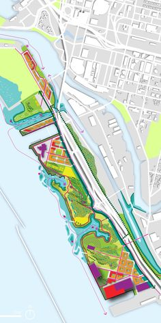 The Buffalo Outer Harbor Master Plan presents a vision for the largely underused waterfront of the City of Buffalo, New York. Ecology, recreation, and civic zones are overlaid to form a pedestrian focused, regionally significant lakefront. The proposal, developed through a public planning process, seeks to promote a diversity of uses, activate the water's edge