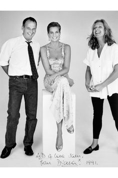 Sam McKnight with Princess Diana and make-up artist Mary Greenwell PATRICK DEMARCHELIER PHOTO Sam McKnight: My Life In Hair - Book & Exhibition   British Vogue