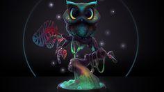 Midnight Owl Sculpt Timelapse