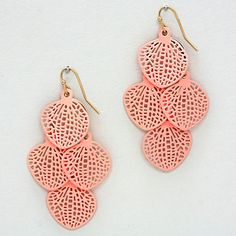 Avi Chandelier Earrings in Peach
