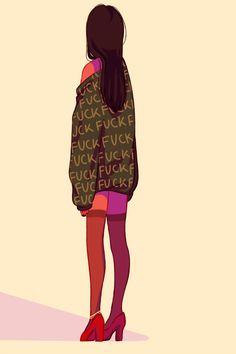 i'd run but i'm wearing heels by TLayla.deviantart.com on @DeviantArt