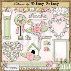 Vintage Roses - Whimsy Primsy Clip Art Download : Digi Web Studio, Clip Art, Printable Crafts & Digital Scrapbooking!
