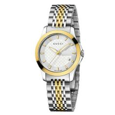 Gucci Women's YA126511 Gucci timeless Steel and Yellow PVD Silver Dial Watch Gucci. $920.00