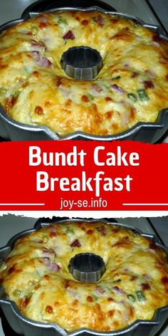 Bundt Cake Breakfast - Believe me you guys with gals won't believe how quickly this breakfast casserole bakes up! Plus, it looks like everyone's favorite cake…a Bundt # breakfast casserole The Best Breakfast Recipes Breakfast And Brunch, Best Breakfast Recipes, How To Make Breakfast, Breakfast Items, Breakfast Dishes, Brunch Recipes, Breakfast Bundt Cake, Breakfast Bake, Christmas Breakfast Casserole