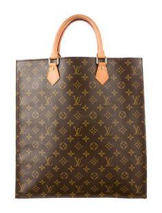 Louis Vuitton Monogram Sac Plat Tote
