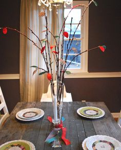 This Thanksgiving Twig Centerpiece will give your Thanksgiving table decorations a truly rustic and natural feel.
