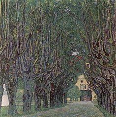 Gustav Klimt Kunst Natur: Wald Moderne Jugendstil