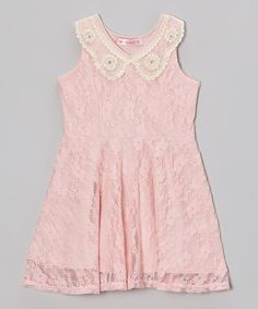 Look what I found on #zulily! Blush Peter Pan Collar Lace Dress - Toddler & Girls by Blush #zulilyfinds